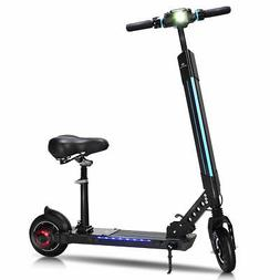 foldable electric scooter with removable seat led
