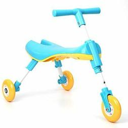 LWKBE Foldable Fly Bike Scooter Toddlers Glide Tricycle Ride