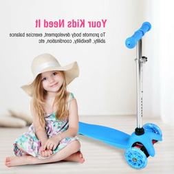 Folding 3-Wheel Kid Scooter PU Wheels for Toddler Child Gift