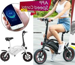 Bluetooth 12'' Electric Bicycle E Bike Scooter bettery APP C