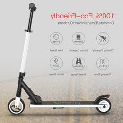 Folding Electric Scooter 250W Aluminum Portable White Teens