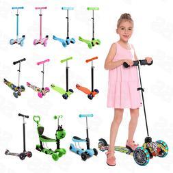 Folding Kick Scooter For Kids 3-12 Adjustable Height Flashin