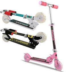 Scooter Deluxe for Adjustable Kick Scooters Girls Boys 2 LED