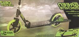 Huffy Green Machine Inline Cruzn Steel Scooter 200mm Wheels