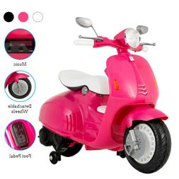 12V Kids Electric Scooters Ride On Motorcycle Toys with Trai