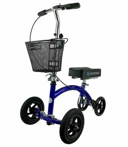 KneeRover HYBRID Knee Scooter with All Terrain Front Axle Up