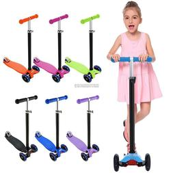 Kick Kids Toddlers LED Light 3 Wheels Scooter For Boy and Gi