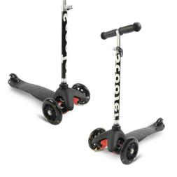 Kick Scooter 3 Wheels with LED Lights Adjustable Handle for