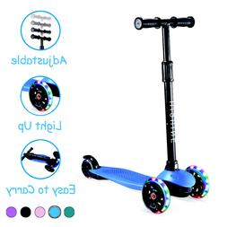Kick Scooter for Kids with 3 Light Up Wheels Adjustable for