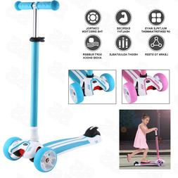 4 Wheels Kick Kids Child Toddlers Scooter Adjustable Height