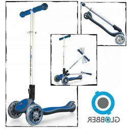 Kids 3 Wheel Folding Scooter Globber Elite Navy Blue