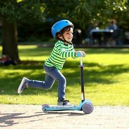 Kids Adjust Handle 3 LED Light Up PU Wheels Kick Scooter Toy