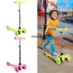 Kids Kick Scooter 3 Wheels Pink Toy for Girls Razor Outdoor