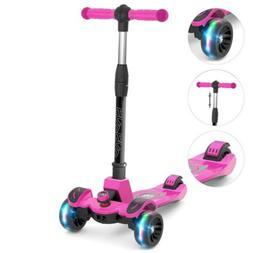 6KU Kids Kick Scooter for Kids Stable 3 LED Flashing Wheels