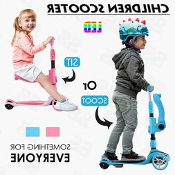 Kids Scooter Deluxe for Age 3-12 Adjustable Kick Scooter LED