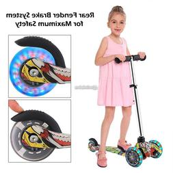 Kids Scooter Deluxe for Age 3-12 Adjustable Kick Scooter Gir