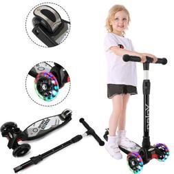 Kids Scooter Flashing LED 3 Wheels Adjustable Child Push Kic