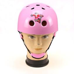 Kids Youth Girls Pink Helmet Bicycle Cycling Scooter Skate S