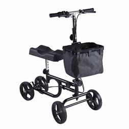 Knee Walker Adjustable Scooter Steerable Dual Brake Knee Rol