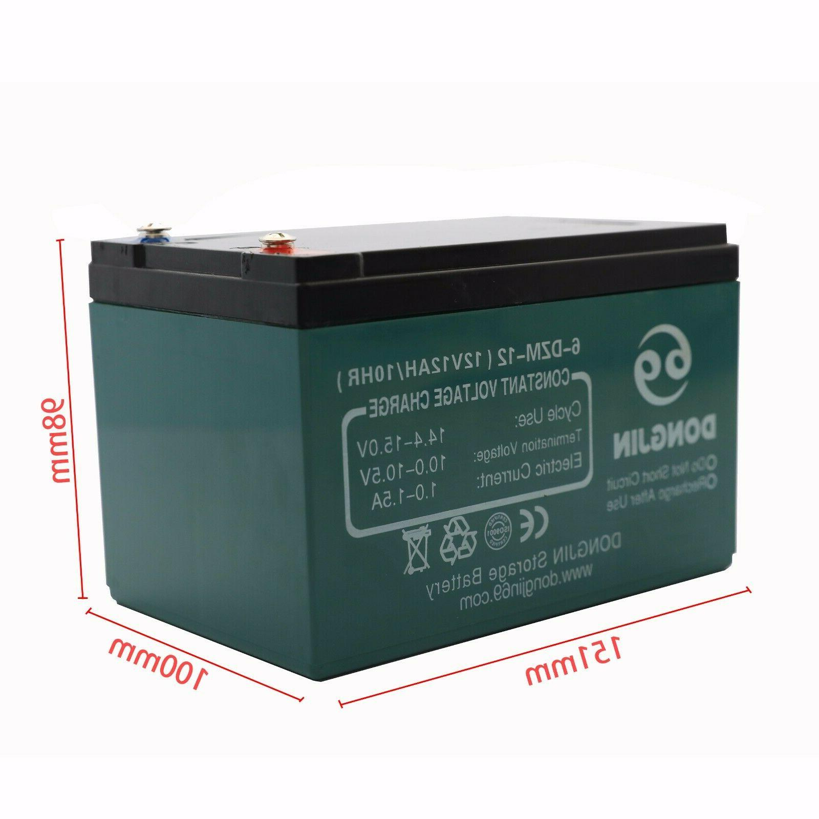 4 12V 6-DZM-12 Rechargeable Battery + 48V Charger Scooter ATV