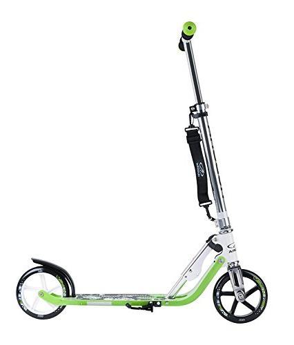 HUDORA Adult Teen Big Wheels, Easy Folding Scooter-Green