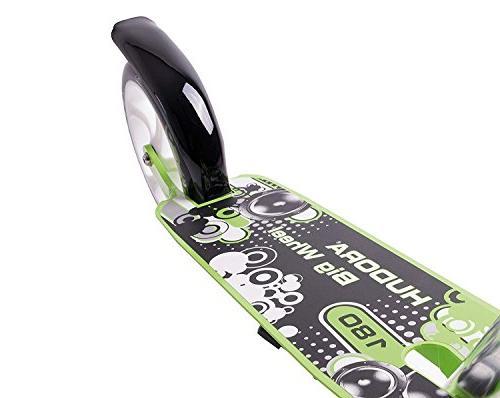 HUDORA Adult Teen Big Easy Folding Scooter-Green