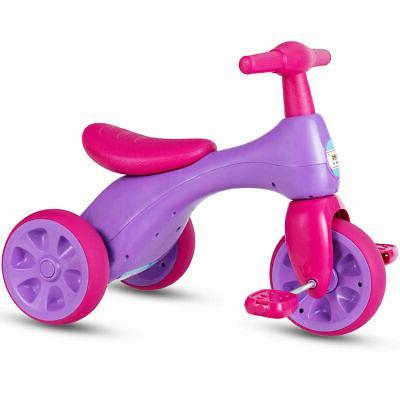 2 in 1 Kids Tricycle Balance Training Bike Ride on Toy Bike3