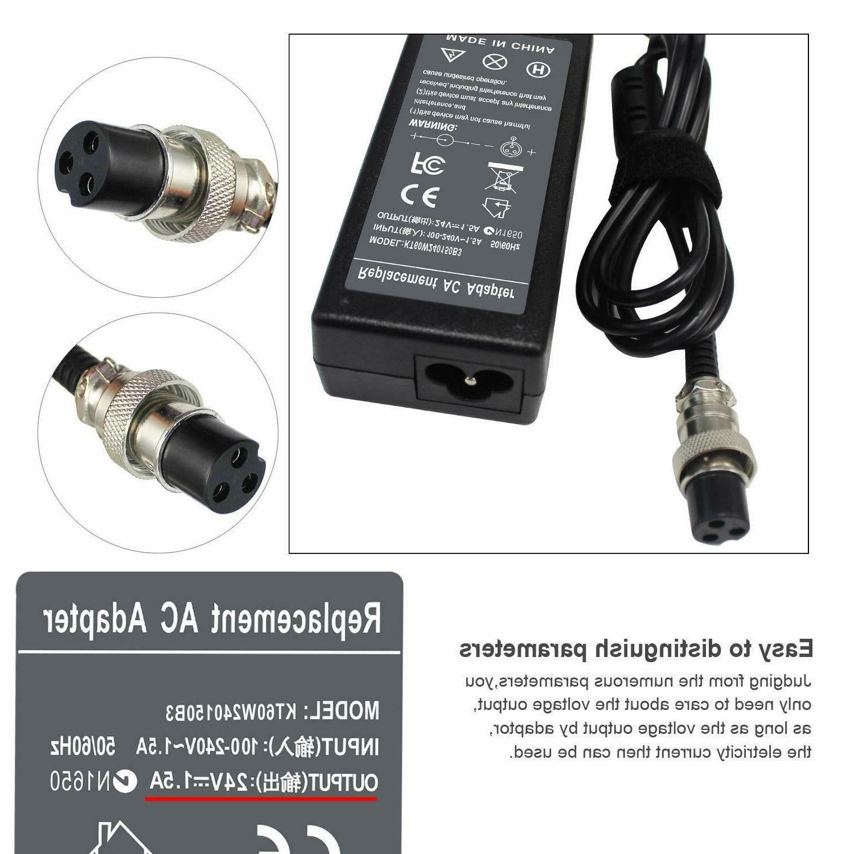 24V 1.5A Charger E100 E150 E175 E325 E500