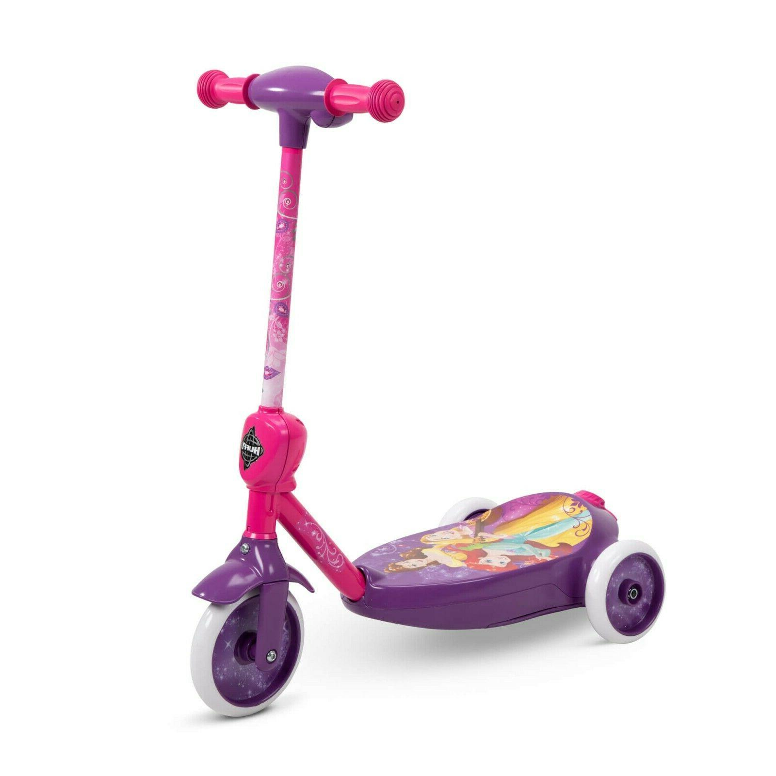 3-Wheel Ride-On Scooter Non-Slip Deck Fun Play Pink