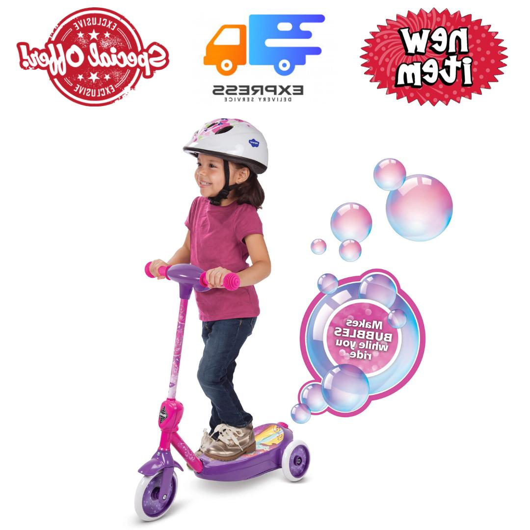 3 wheel ride on toys bubble scooter