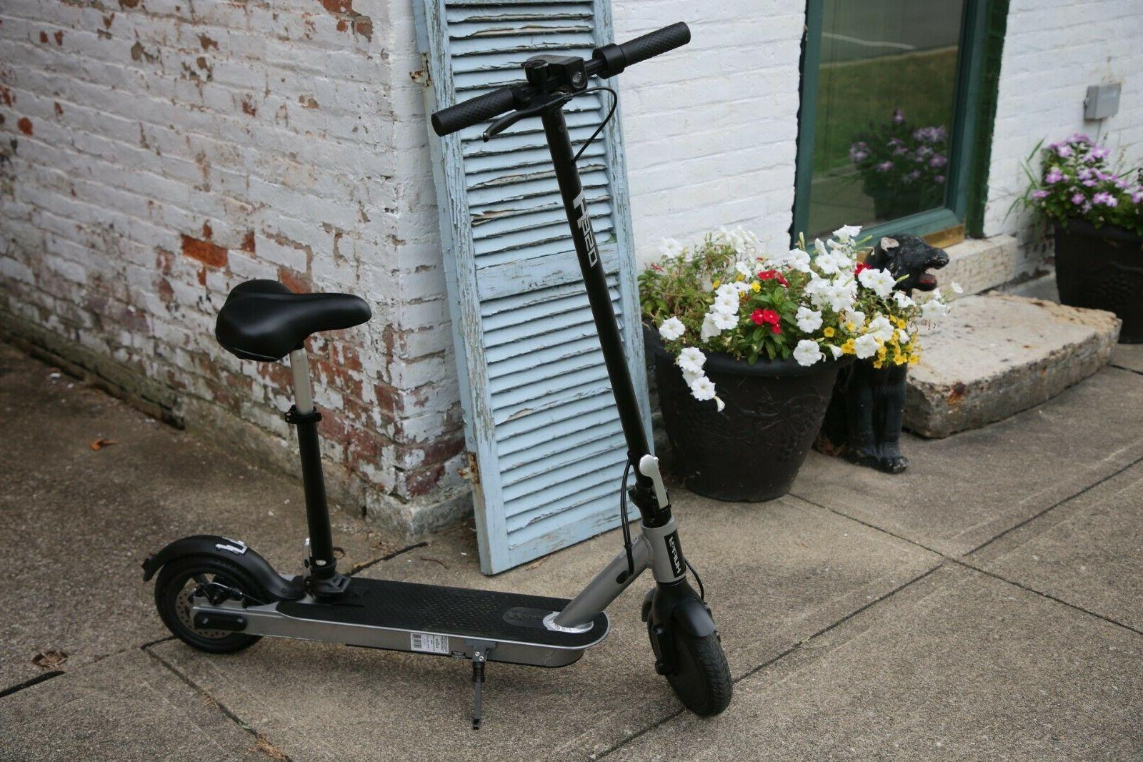 Huffy Folding Scooter - - Seat, Kickstand, Bell