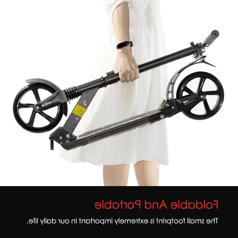 Folding Kick Adult Ride Portable Lightweight Adjustable 2 Wheels