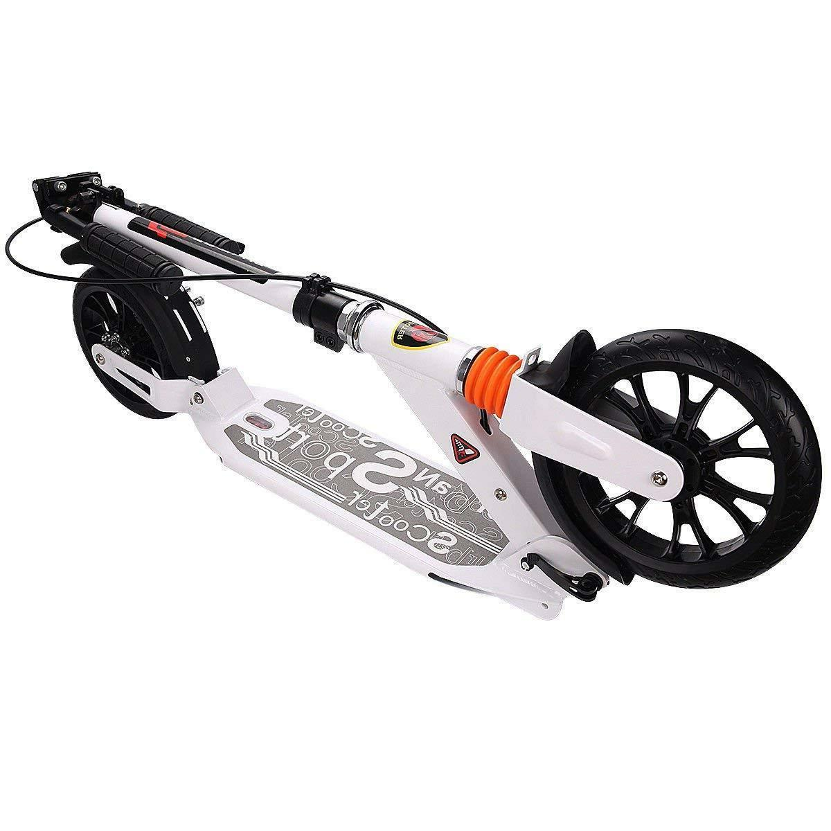Adult Scooter Handbrake Dual Glider Adjustable Height, Supports
