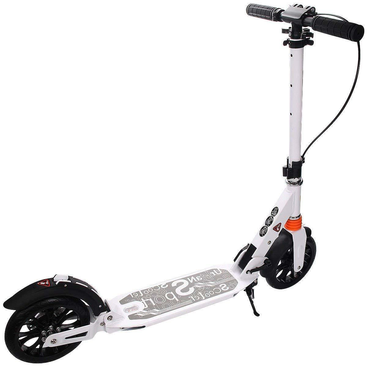 Adult Kick Scooter Handbrake Adjustable Height,