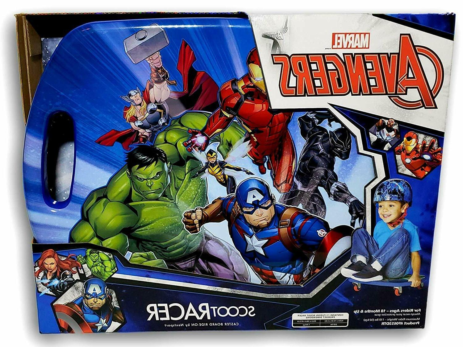 avengers spin scoot racer caster scooter board