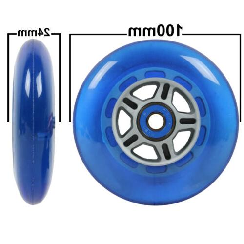 BLUE Replacement Razor WHEELS, ABEC