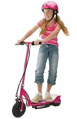 Motorized Scooter, Pink and Helmet,