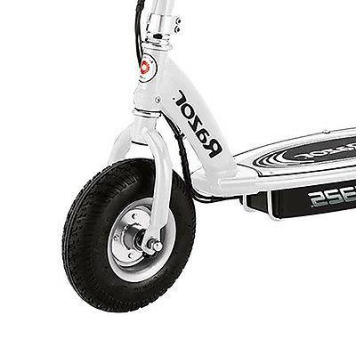 Razor White Scooter + Helmet + Pad Safety Set
