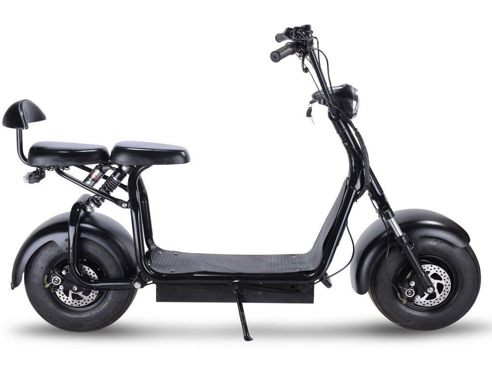 electric powered scooter 1000w 2 seater fat