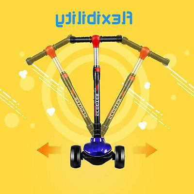 Flashing LED Up Kids 3 Wheel Folding US