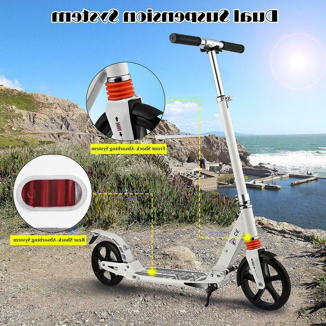 Ancheer T-Style Big Wheels Kick Scooter Adult/Kids Easy-Fold