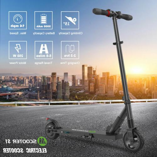 MegaWheels Portable Electric Scooter Adult/'s Folding Kick E-Scooter 250W 14MPH
