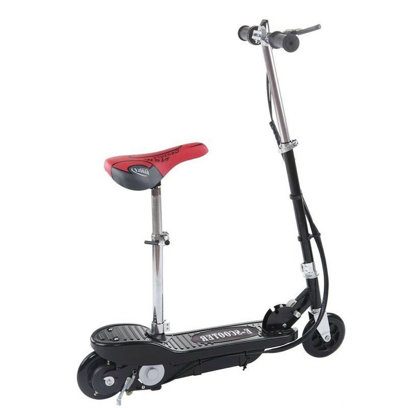 Folding Rechargeable Seated Electric Scooter Ride Outdoor For Teens