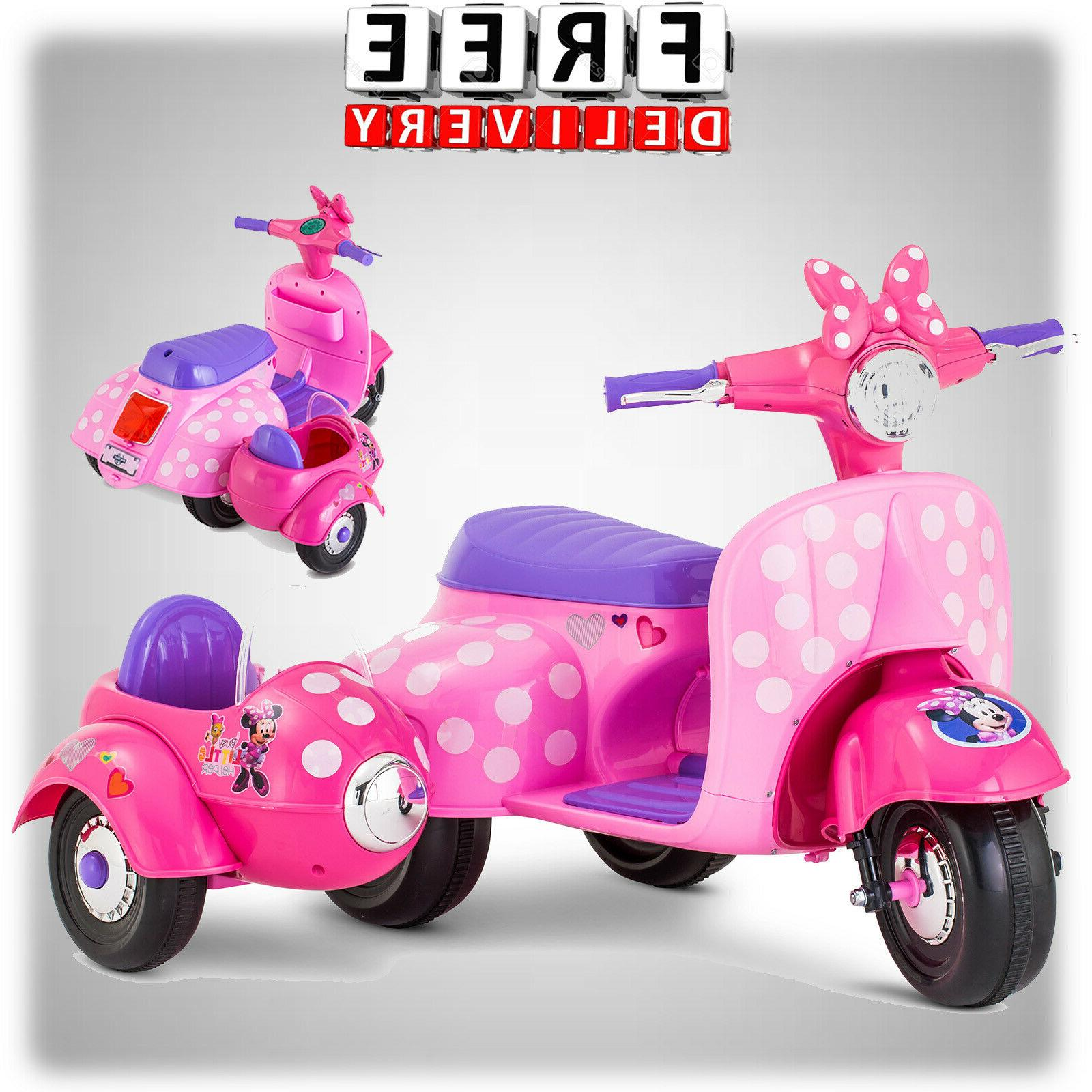 Girls Battery Powered Ride On Toys 6V Electric 4 Wheel Minni