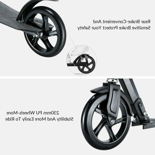 Adult Folding Hight-Adjustable Big Wheels With