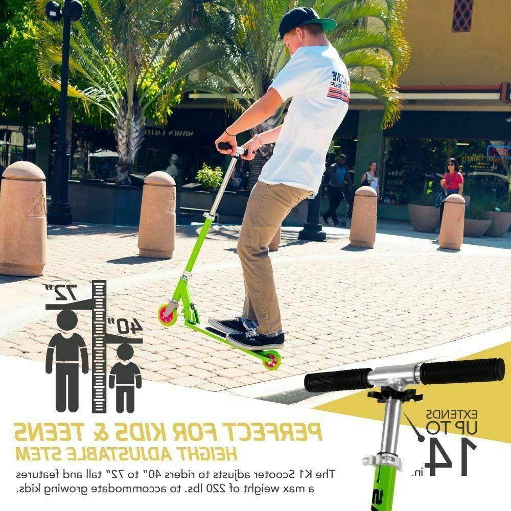 Swagtron 2-Wheel Lightweight Aluminum Scooter Boys Teens