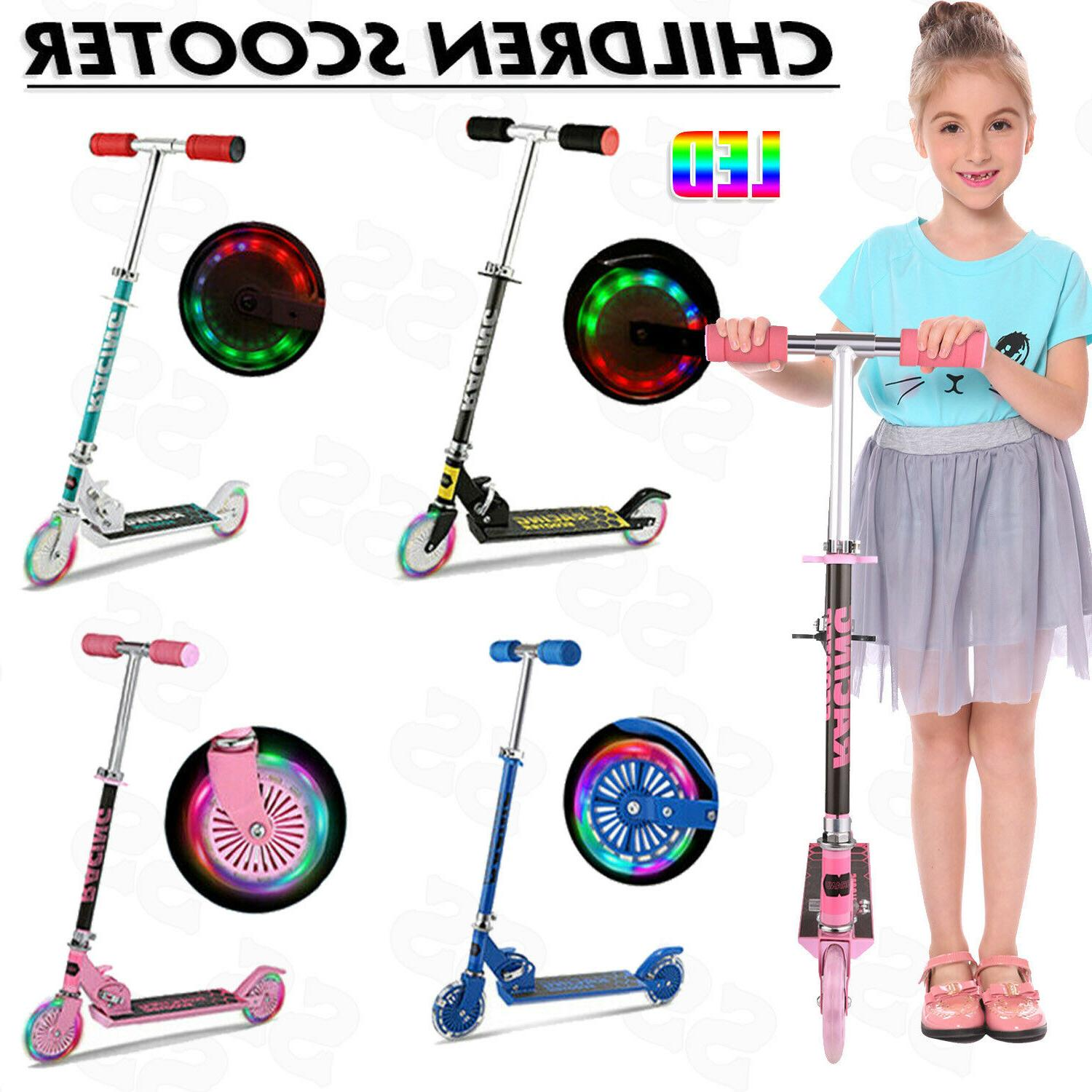 ANCHEER Kick Scooter for Kids Deluxe Aluminum 2 Wheels Glide