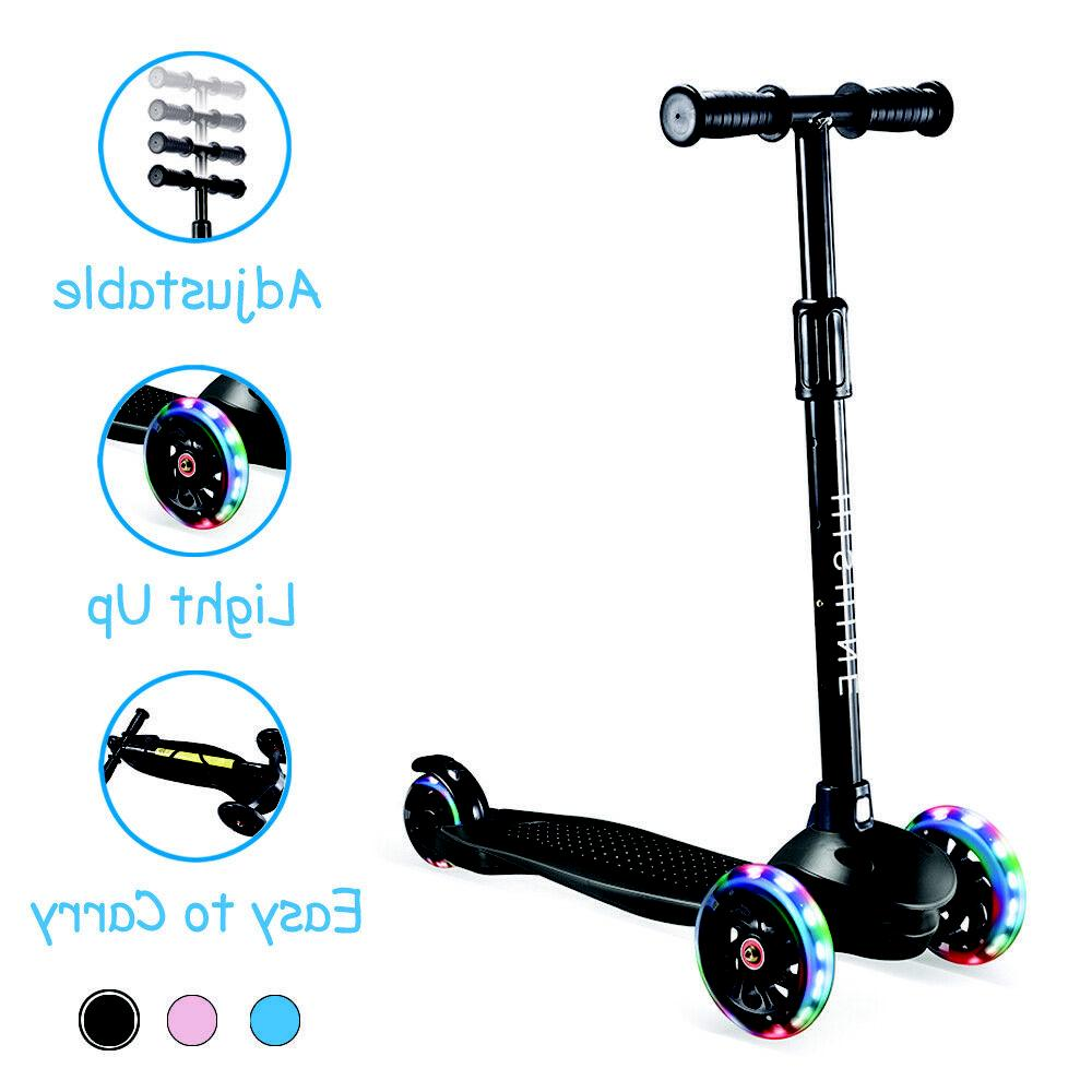 Kick Scooter for with 3 Light Wheels Boys Girls