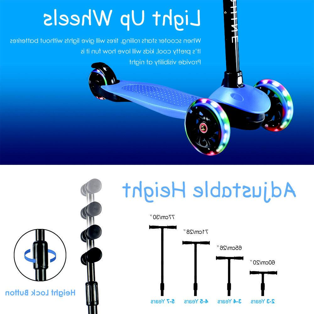 Kick Scooter for Kids with 3 Wheels Adjustable Height Boys