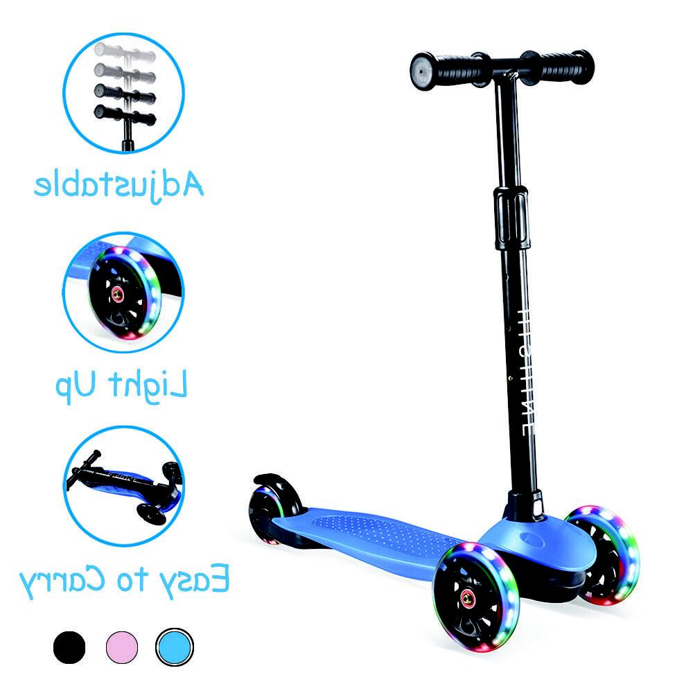 kick scooter for kids with 3 light